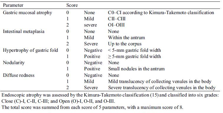 Clasificación de Gastritis