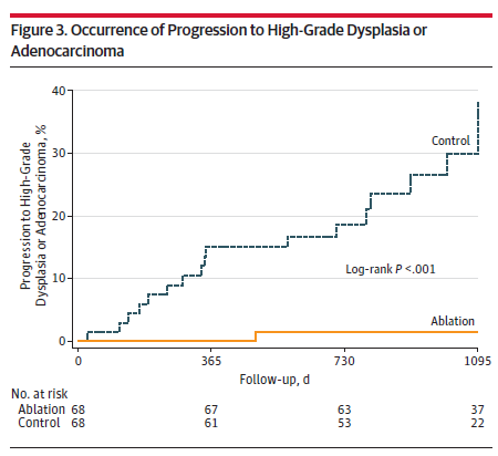 Radiofrequency Ablation vs Endoscopic Surveillance for Patients With Barrett Esophagus and Low-Grade Dysplasia